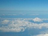 機上から富士山と日本アルプス